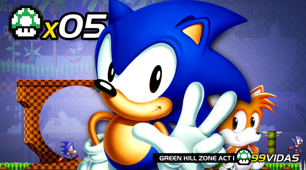 99Vidas 05 – Sonic the Hedgehog 1, 2 e 3