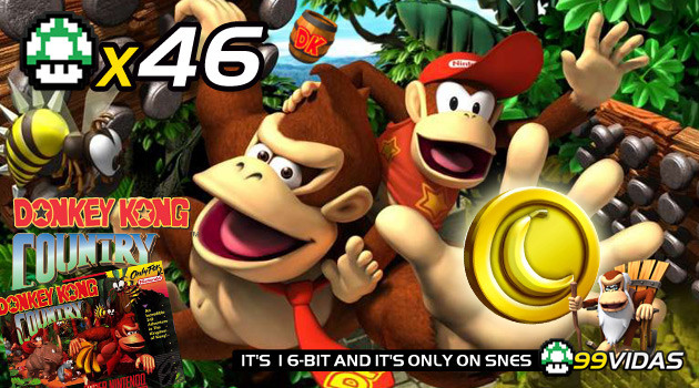 99Vidas 46 – Donkey Kong Country 1