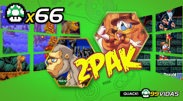 99Vidas 66 – 2-Pak: Quackshot e Toki (JuJu)