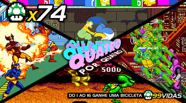 99Vidas 74 – 4×4: X-Men, Simpsons, Battletoads e Turtles in Time