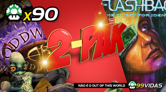 99Vidas 90 – 2-Pak: Flashback e Oddworld: Abe's Oddysee