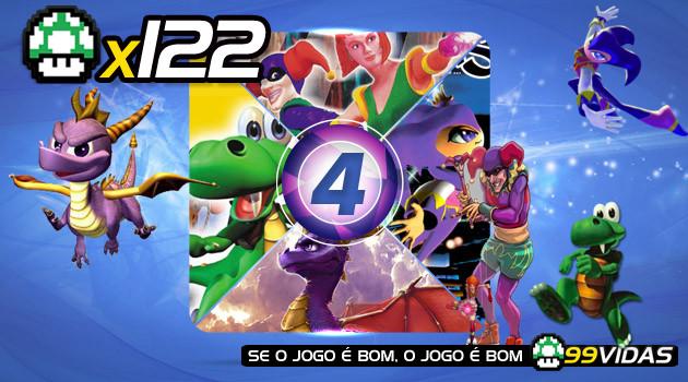 99Vidas 122 – 4×4: Nights, Pandemonium, Croc e Spyro