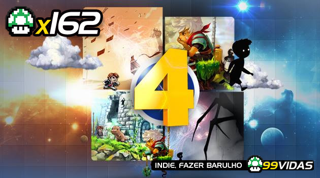 99Vidas 162 – 4×4: Bastion, Limbo, Braid e Journey