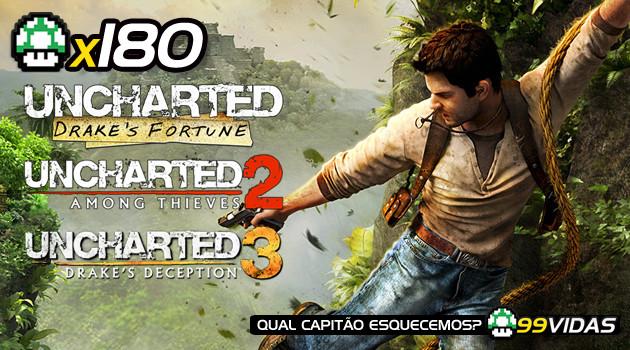 99Vidas 180 – Uncharted 1, 2 e 3