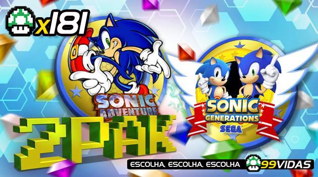 99Vidas 181 – 2-Pak: Sonic Adventure e Sonic Generations