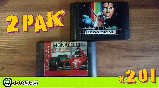 99Vidas 201 – 2-Pak: Moonwalker e Super Monaco GP