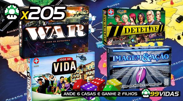 99Vidas 205 – Jogos de Tabuleiro