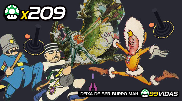 99Vidas 209 – 4×4: Keystone Kapers, Frostbite, Dragon Treasure e Demon Attack