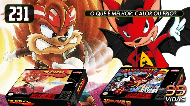 99Vidas 231 – 2-Pak: Aero the Acro-Bat e Zero the Kamikaze Squirrel