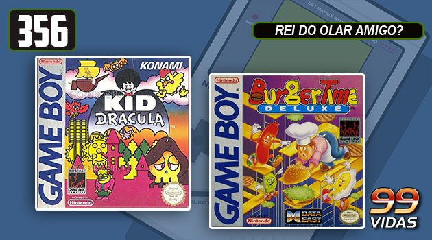 99Vidas 356 – 2-Pak: Kid Dracula e Burger Time