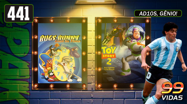 99Vidas 441 – 2-Pak: Bugs Bunny: Lost in Time e Toy Story 2: Buzz Lightyear to the Rescue