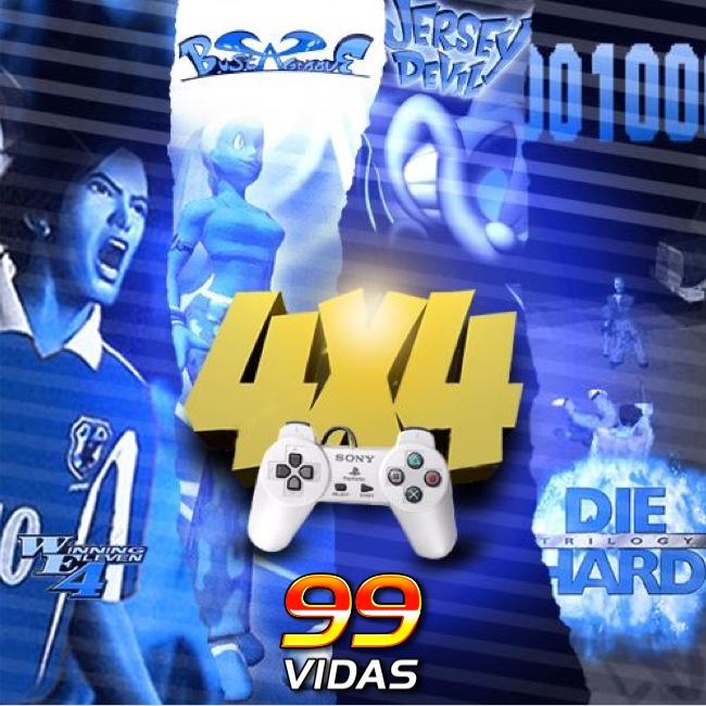 99Vidas 432 – 4x4: Bust a Groove, Die Hard Trilogy, Jersey Devil e Winning Eleven 4